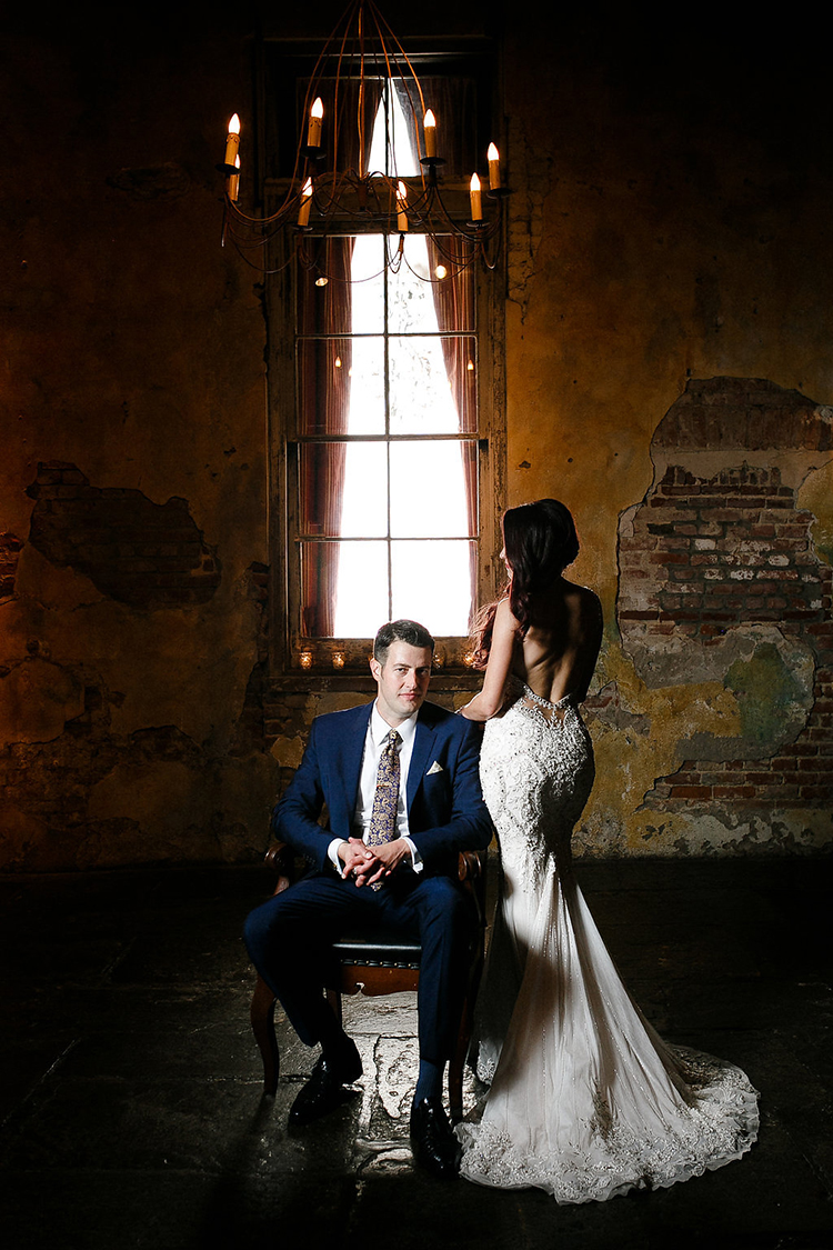 dramatic wedding photography - photo by Kaylynn Marie Photography https://ruffledblog.com/midnight-in-paris-inspired-wedding-in-new-orleans