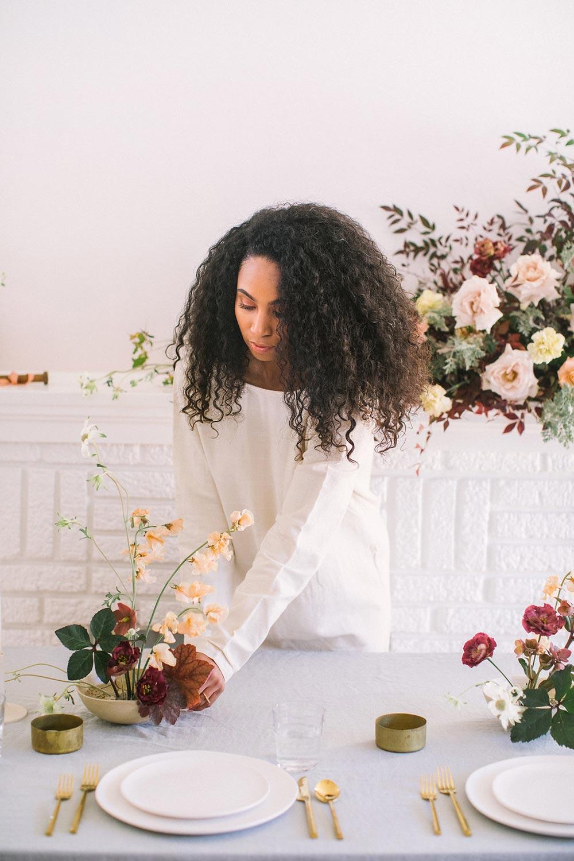 wild minimalist wedding centerpiece
