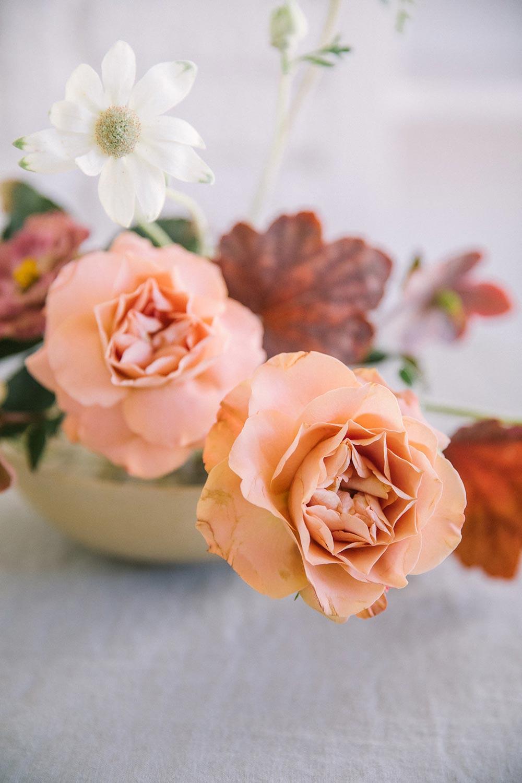 dusty rose wedding centerpiece