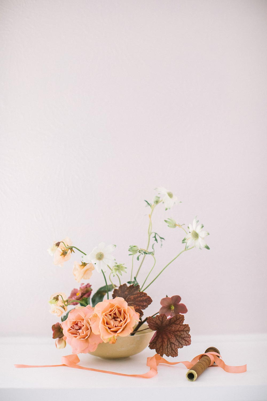 dusty rose floral design