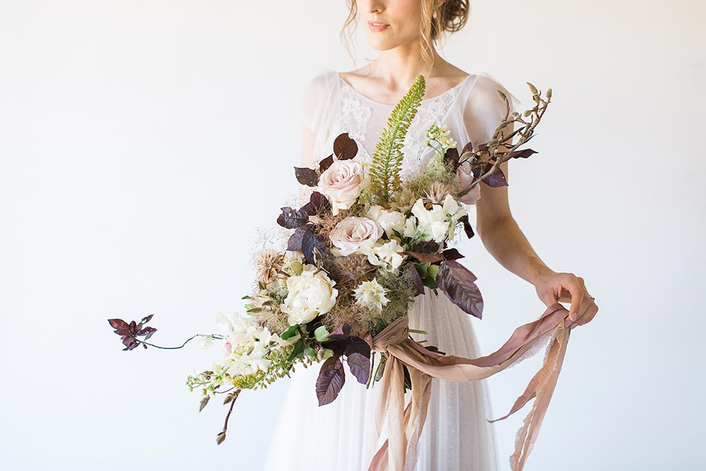 lush fall bridal bouquet