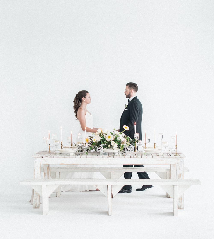 Minimalist + Monochrome European Wedding Inspiration - photo by Laura Kelly Photography https://ruffledblog.com/minimalist-monochrome-european-wedding-inspiration