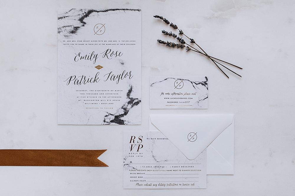 modern organic wedding invitations - https://ruffledblog.com/modern-baltimore-mill-house-wedding