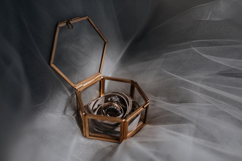 personalized wedding ring holders - https://ruffledblog.com/modern-baltimore-mill-house-wedding