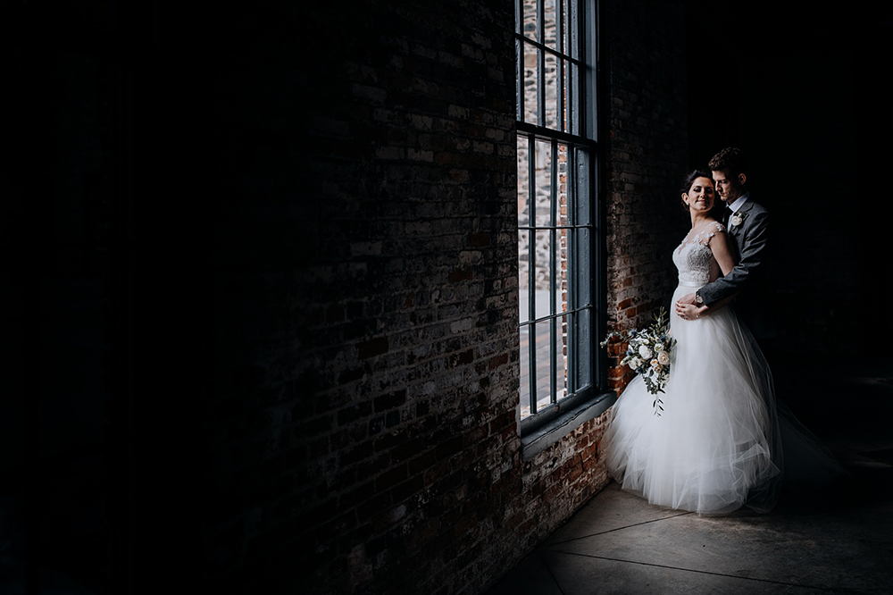 dramatic wedding photography - https://ruffledblog.com/modern-baltimore-mill-house-wedding