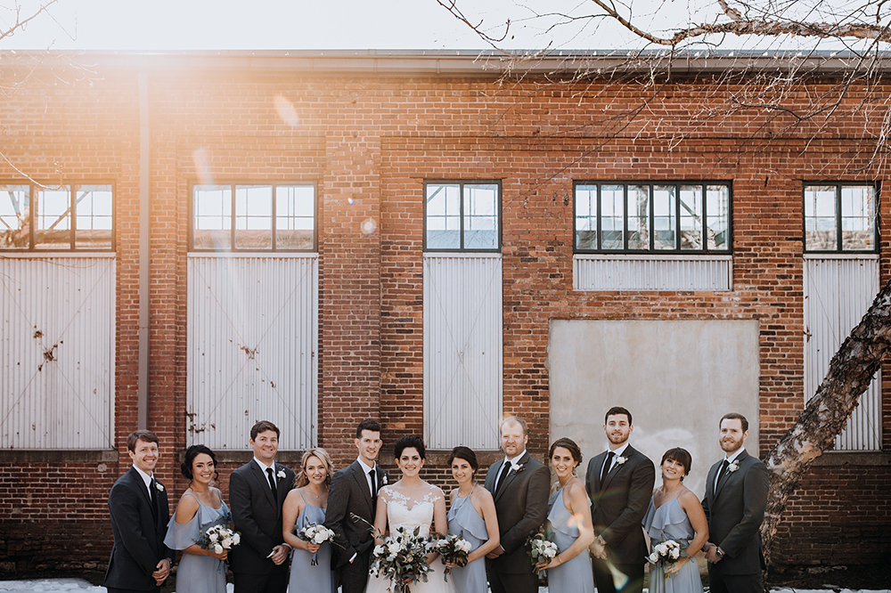 powder blue bridal parties - https://ruffledblog.com/modern-baltimore-mill-house-wedding
