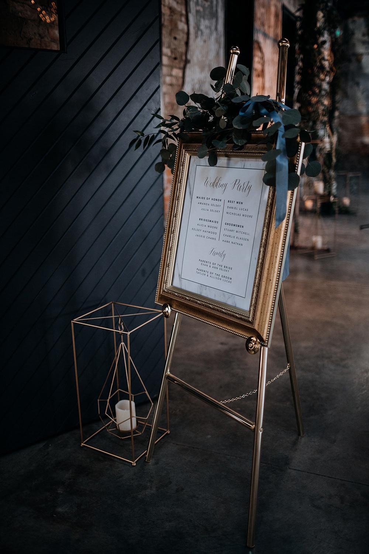 wedding ceremony signage - https://ruffledblog.com/modern-baltimore-mill-house-wedding