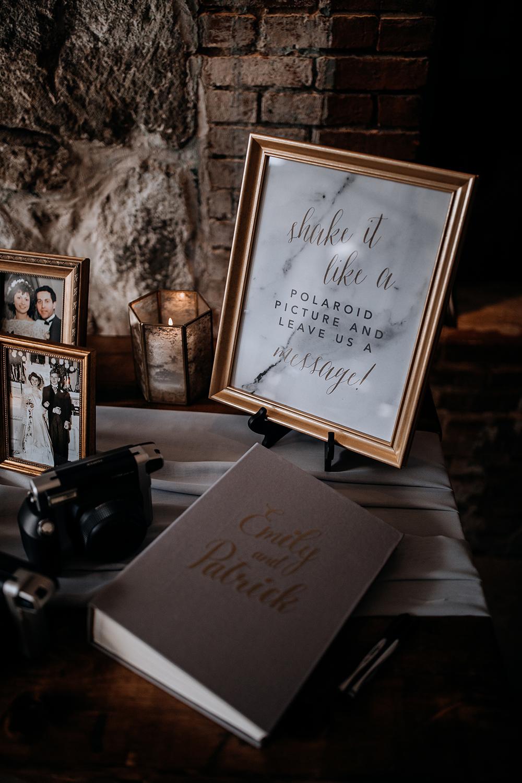 wedding guest books - https://ruffledblog.com/modern-baltimore-mill-house-wedding