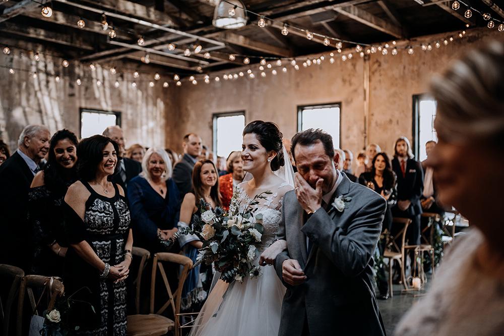 sweet ceremony processionals - https://ruffledblog.com/modern-baltimore-mill-house-wedding