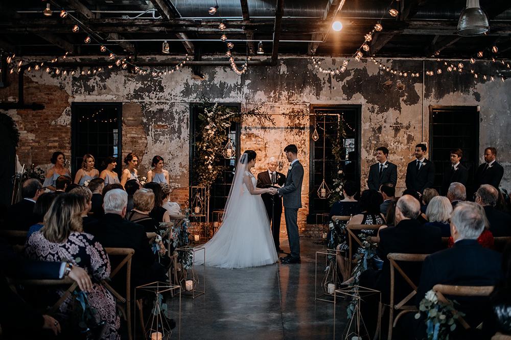 modern wedding ceremonies - https://ruffledblog.com/modern-baltimore-mill-house-wedding