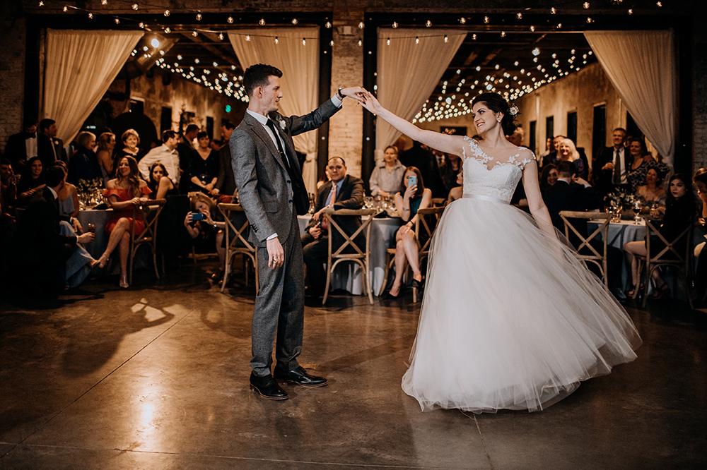 wedding first dances - https://ruffledblog.com/modern-baltimore-mill-house-wedding