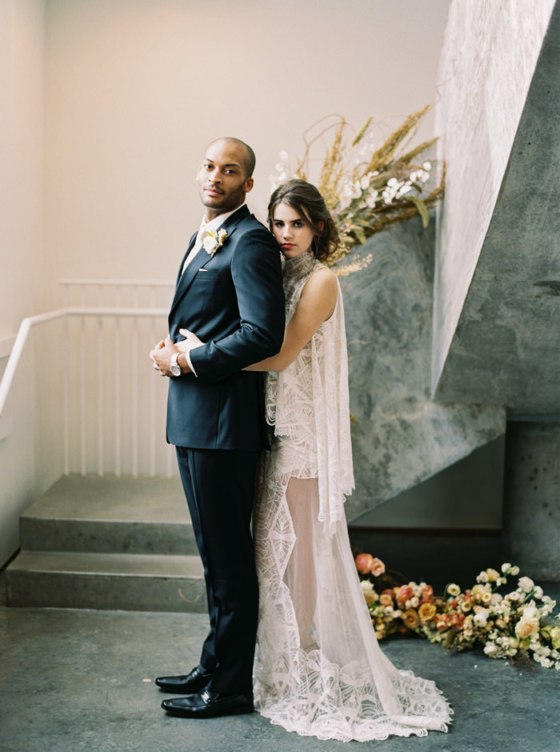 Modern Boheme Wedding Inspiration with a Staircase in Bloom