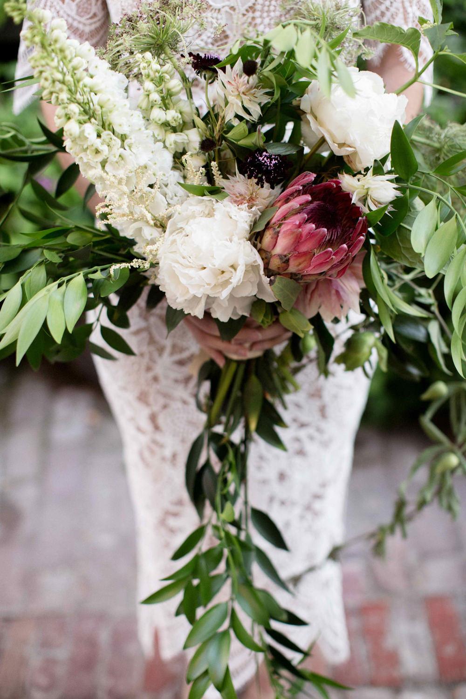 wild wedding bouquets - photo by BrittRene Photo http://ruffledblog.com/modern-chic-foodie-wedding-inspiration-in-san-francisco