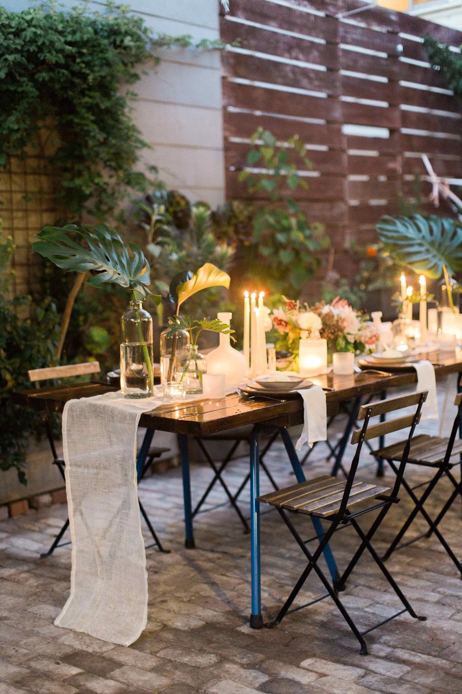 outdoor wedding receptions - photo by BrittRene Photo http://ruffledblog.com/modern-chic-foodie-wedding-inspiration-in-san-francisco
