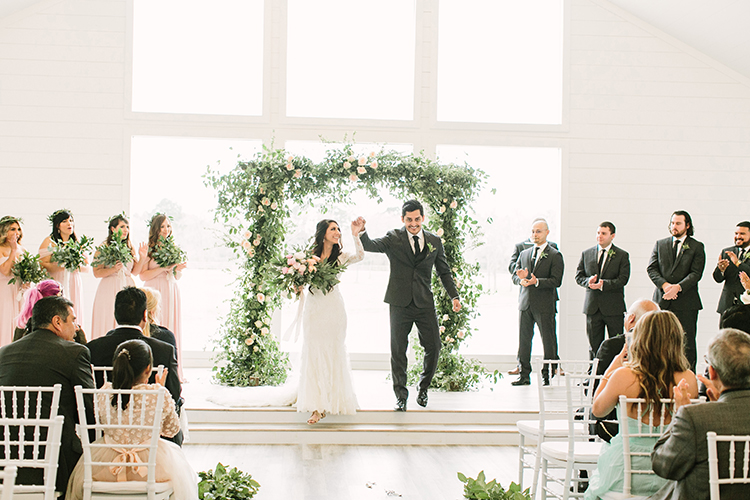 wedding ceremony recessionals - photo by Mustard Seed Photography http://ruffledblog.com/modern-farmhouse-wedding-with-organic-details