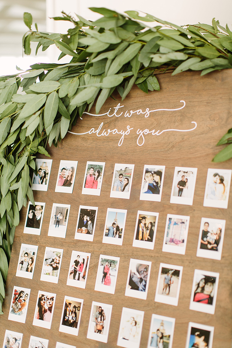 cute wedding ideas with polaroids - photo by Mustard Seed Photography https://ruffledblog.com/modern-farmhouse-wedding-with-organic-details