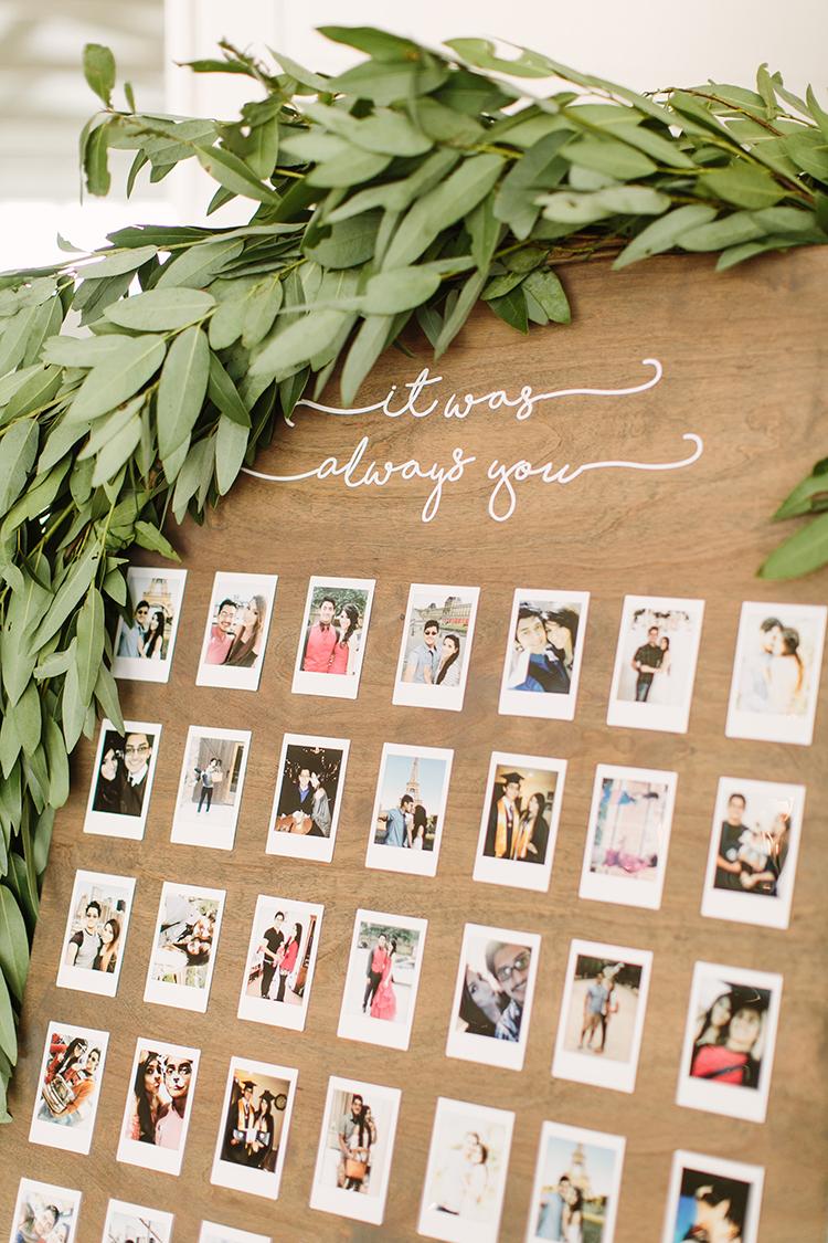 cute wedding ideas with polaroids - photo by Mustard Seed Photography http://ruffledblog.com/modern-farmhouse-wedding-with-organic-details