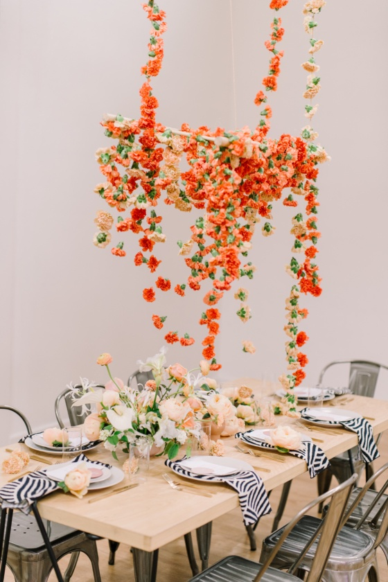 This Modern Floral Chandelier Will Have You Dreaming in Carnations