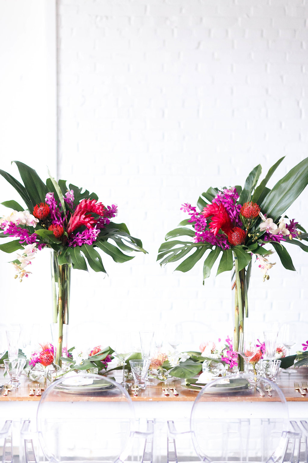 Modern Industrial Wedding Inspiration with Tropical Vibes - photo by Virginia Ashley Photography http://ruffledblog.com/modern-industrial-wedding-inspiration-with-tropical-vibes
