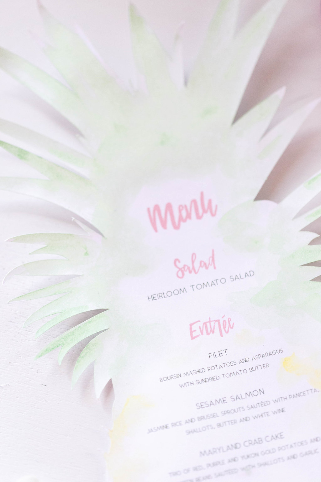 tropical paper goods - photo by Virginia Ashley Photography http://ruffledblog.com/modern-industrial-wedding-inspiration-with-tropical-vibes