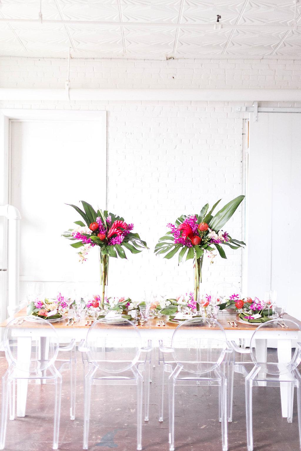 modern tropical weddings - photo by Virginia Ashley Photography http://ruffledblog.com/modern-industrial-wedding-inspiration-with-tropical-vibes