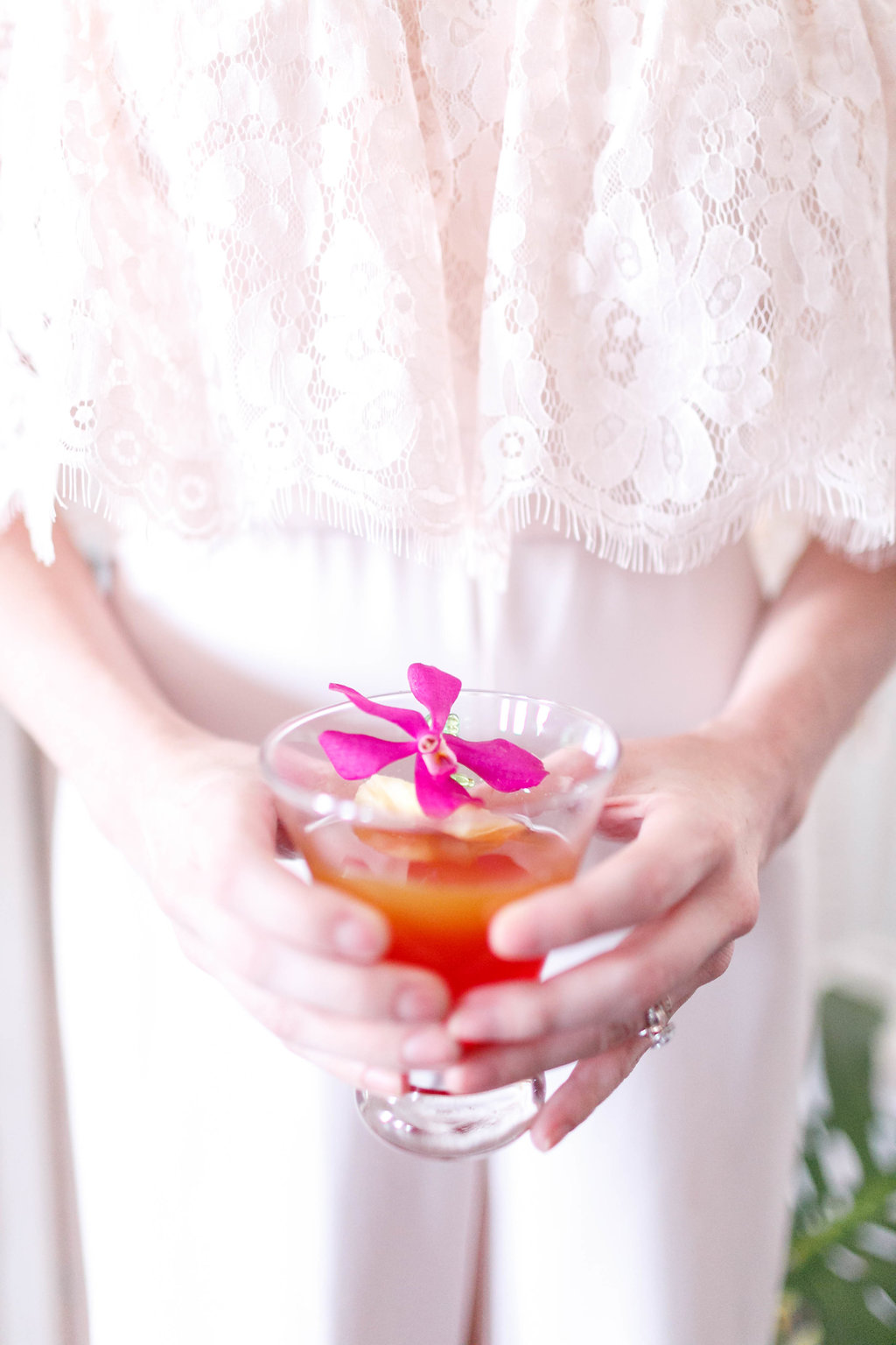 tropical wedding cocktails - photo by Virginia Ashley Photography http://ruffledblog.com/modern-industrial-wedding-inspiration-with-tropical-vibes