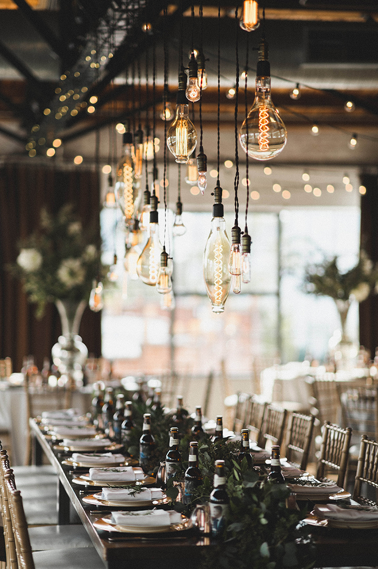 Modern Industrial Wedding with Lots of Greenery - photo by A Sea of Love http://ruffledblog.com/modern-industrial-wedding-with-lots-of-greenery