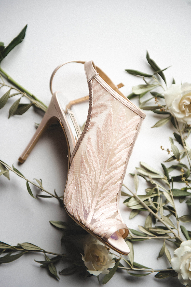 unique wedding shoes - photo by A Sea of Love http://ruffledblog.com/modern-industrial-wedding-with-lots-of-greenery
