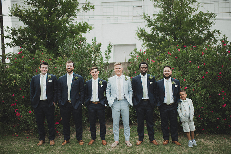 groomsmen style - photo by A Sea of Love https://ruffledblog.com/modern-industrial-wedding-with-lots-of-greenery