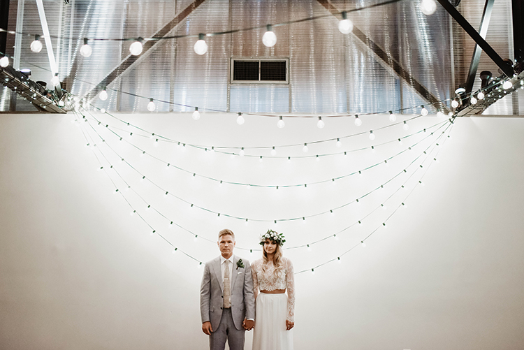 wedding photography - photo by A Sea of Love http://ruffledblog.com/modern-industrial-wedding-with-lots-of-greenery