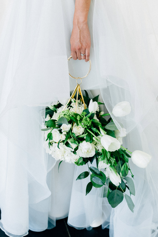 pomander bouquets - photo by Four Corners Photography http://ruffledblog.com/modern-luxe-summer-wedding-inspiration