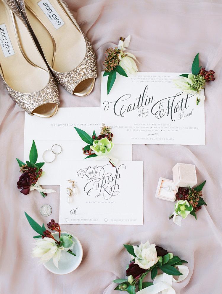 wedding stationery - photo by Bethany Erin Photography http://ruffledblog.com/modern-meets-rustic-wedding-in-dallas