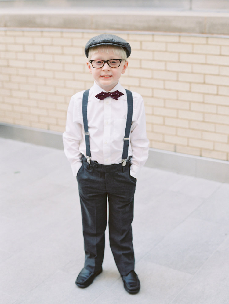 ring bearer outfits - photo by Bethany Erin Photography http://ruffledblog.com/modern-meets-rustic-wedding-in-dallas