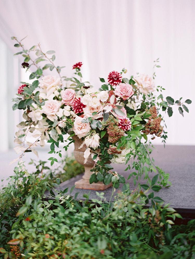 wedding flowers - photo by Bethany Erin Photography http://ruffledblog.com/modern-meets-rustic-wedding-in-dallas