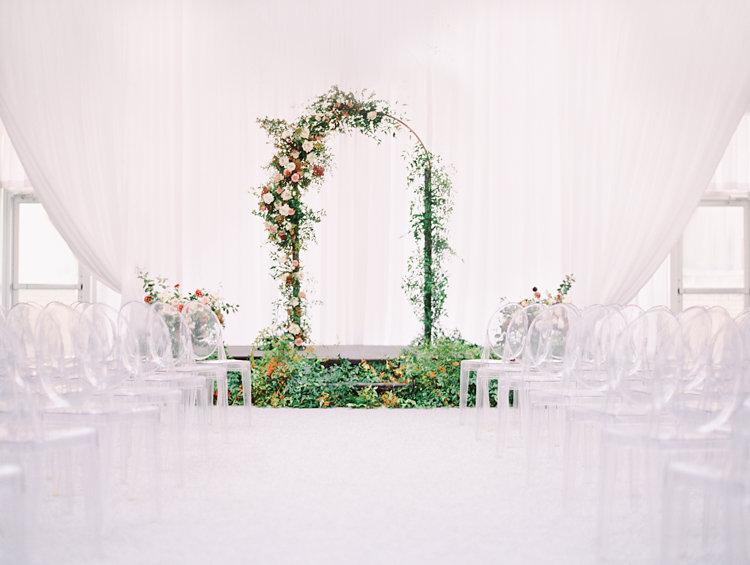ceremony decor - photo by Bethany Erin Photography http://ruffledblog.com/modern-meets-rustic-wedding-in-dallas