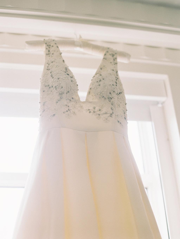 glitzy modern wedding dresses - photo by Abby Jiu Photography http://ruffledblog.com/modern-metallics-wedding-in-downtown-washington-dc