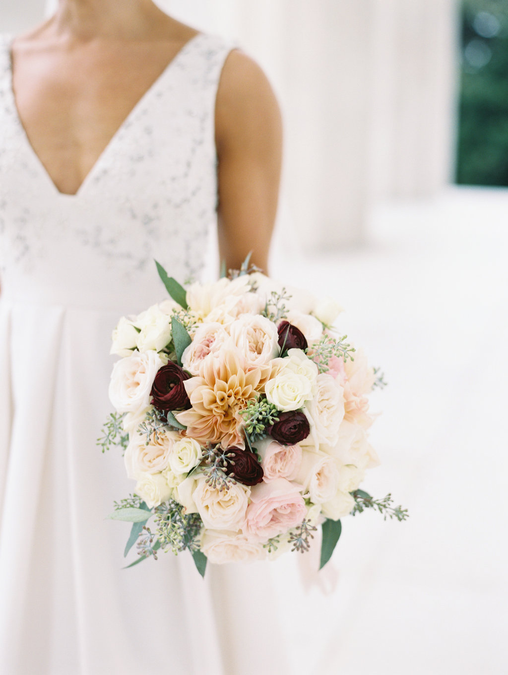fall wedding bouquets - photo by Abby Jiu Photography https://ruffledblog.com/modern-metallics-wedding-in-downtown-washington-dc