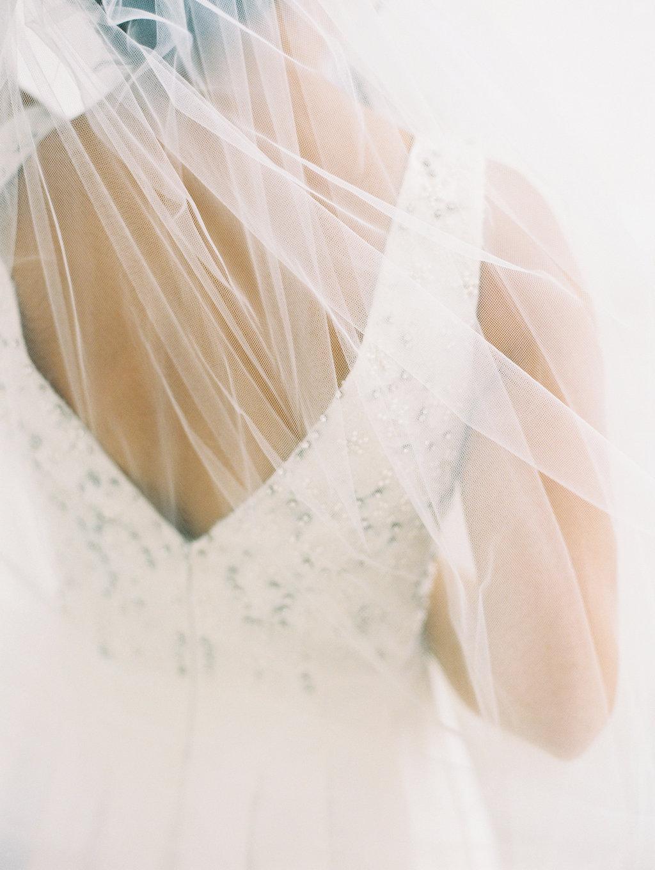 romantic wedding veils - photo by Abby Jiu Photography http://ruffledblog.com/modern-metallics-wedding-in-downtown-washington-dc