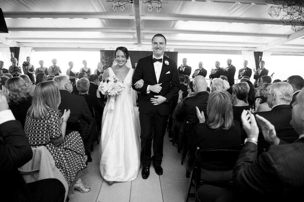 ceremony recessionals - photo by Abby Jiu Photography http://ruffledblog.com/modern-metallics-wedding-in-downtown-washington-dc