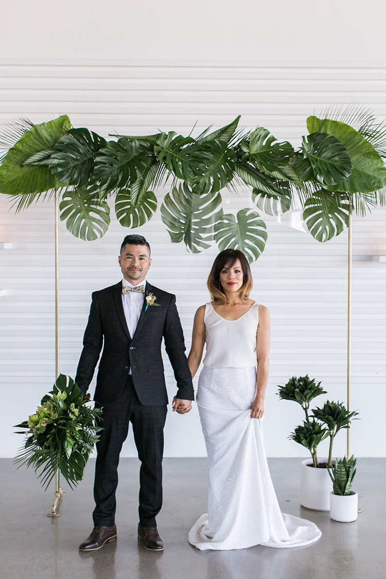 Modern minimalist wedding ideas with a tropical twist ruffled modern minimalist wedding ideas with a tropical twist photo by j wiley photography https junglespirit Images