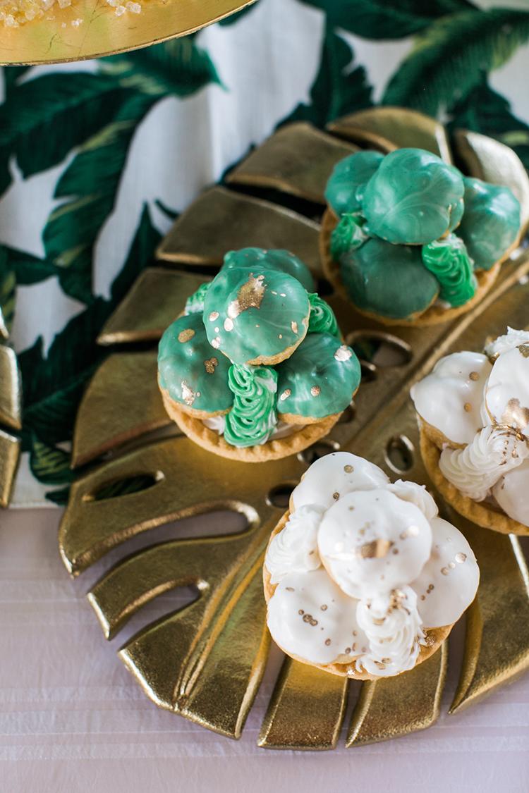 green wedding desserts - photo by J Wiley Photography https://ruffledblog.com/modern-minimalist-wedding-ideas-with-a-tropical-twist