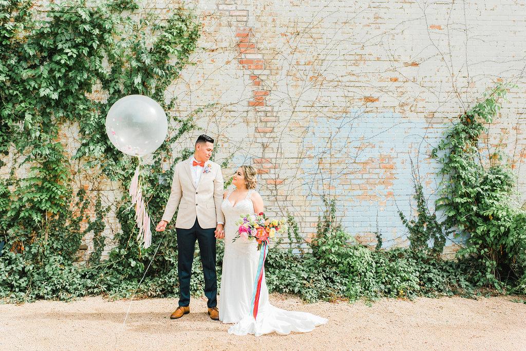 Modern + Playful Texas Carnival Wedding - https://ruffledblog.com/modern-playful-texas-carnival-wedding