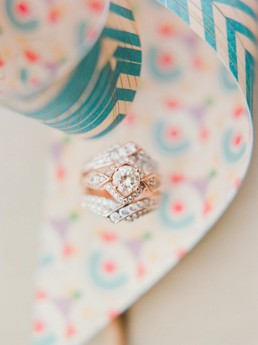 unique diamond wedding ring sets - https://ruffledblog.com/modern-playful-texas-carnival-wedding