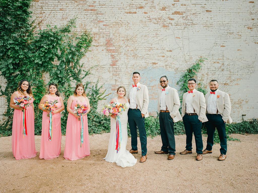wedding parties - https://ruffledblog.com/modern-playful-texas-carnival-wedding