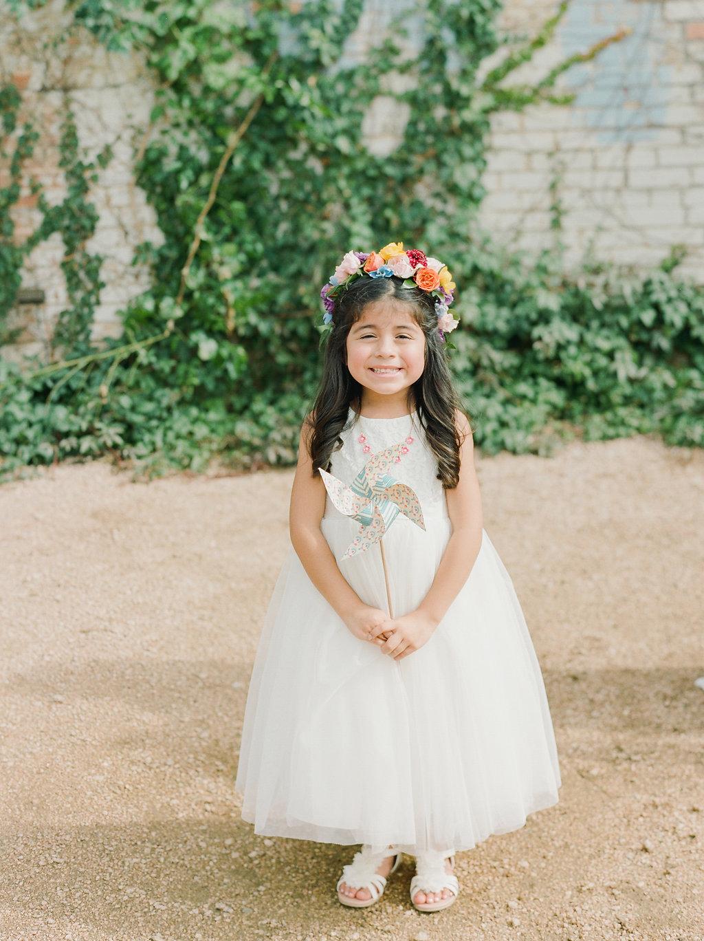 cute flower girl ideas - https://ruffledblog.com/modern-playful-texas-carnival-wedding