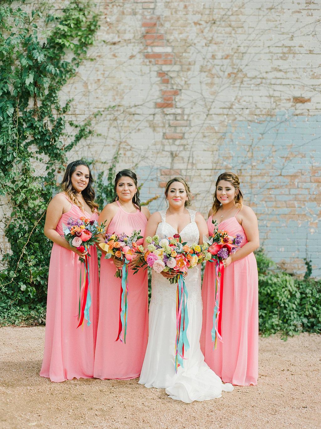colorful bridal party ideas - https://ruffledblog.com/modern-playful-texas-carnival-wedding
