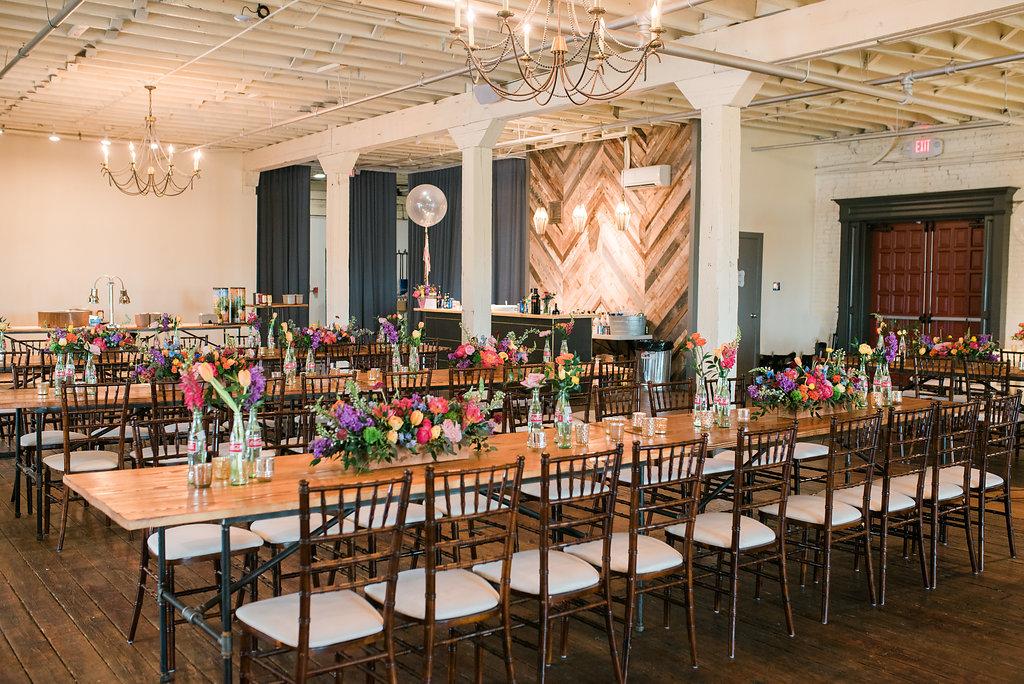 modern industrial wedding inspiration - https://ruffledblog.com/modern-playful-texas-carnival-wedding