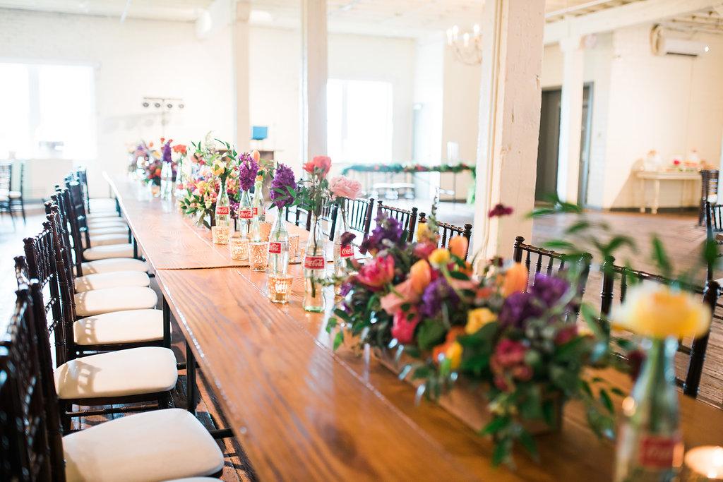 colorful wedding inspiration - https://ruffledblog.com/modern-playful-texas-carnival-wedding