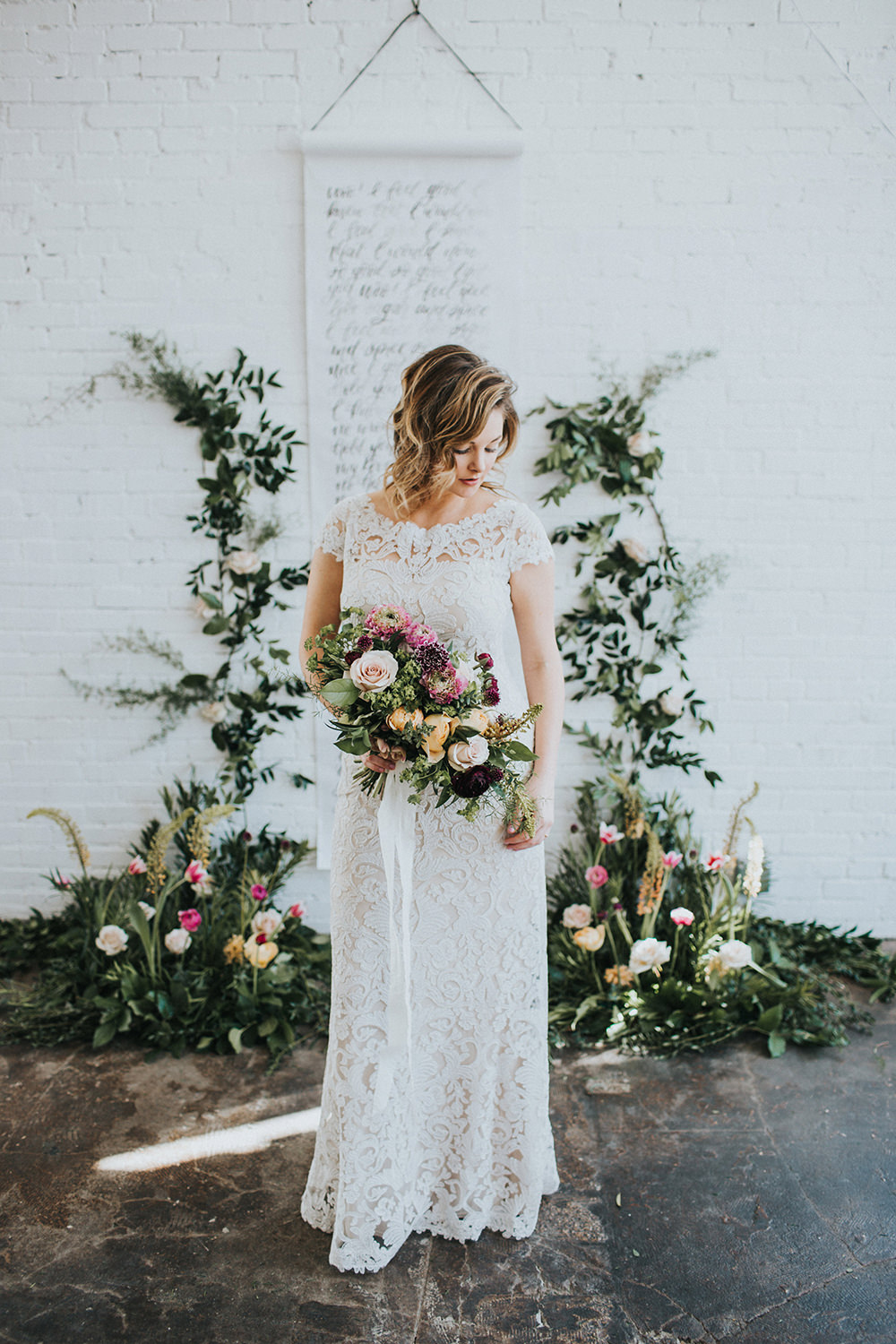 Modern Romantic Loft Wedding Inspiration - photo by Jacoby Photo and Design http://ruffledblog.com/modern-romantic-loft-wedding-inspiration