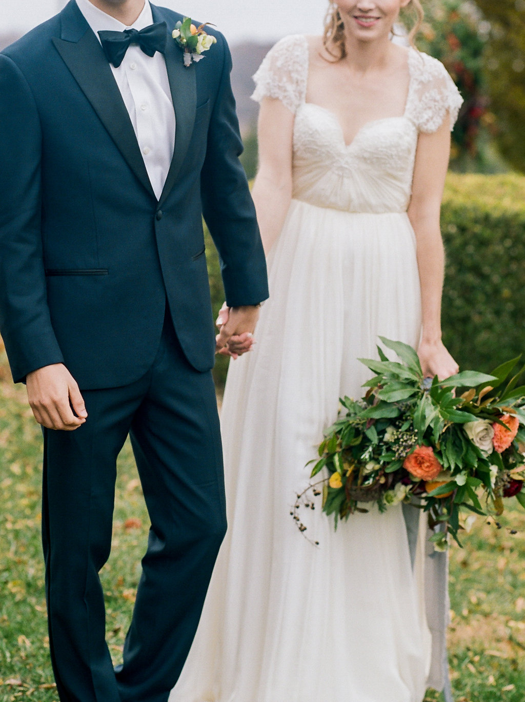 Modern Romantic Wedding Ideas with Family Heirlooms - photo by Lissa Ryan Photography http://ruffledblog.com/modern-romantic-wedding-ideas-with-family-heirlooms
